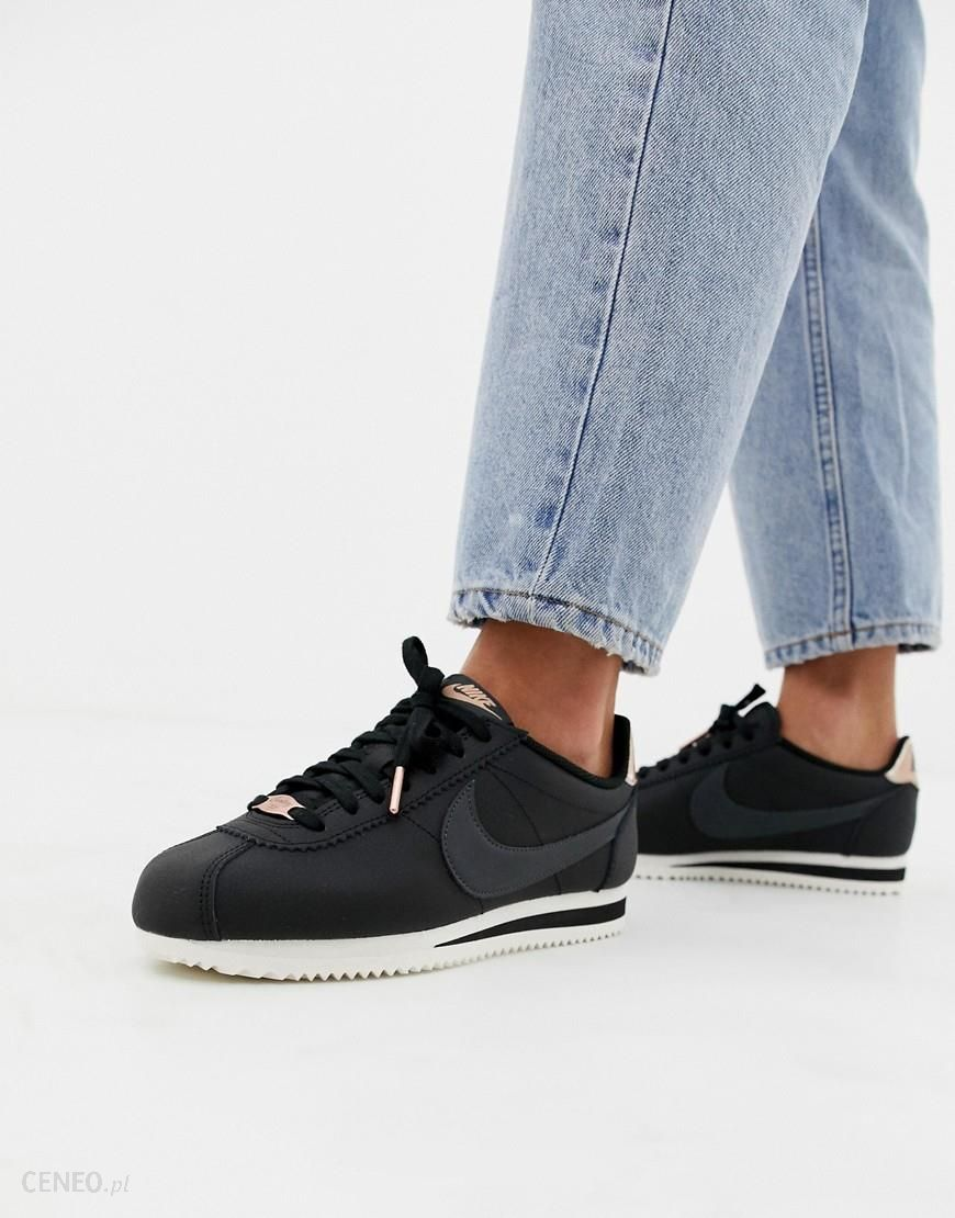 superior quality c33bd ec470 Nike Black And Gold Cortez Trainers - Black - Ceneo.pl
