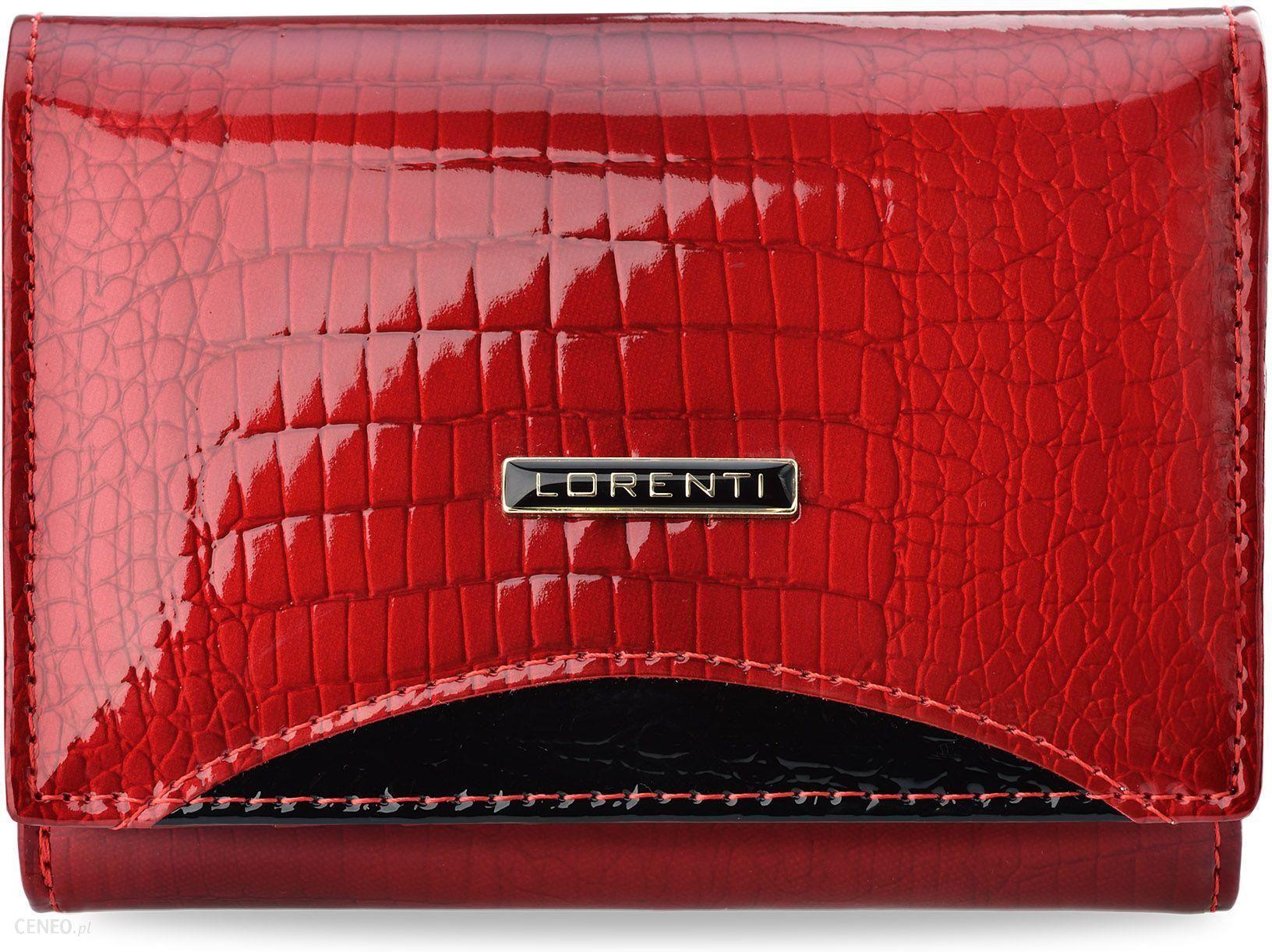 ddc778f6a7477 Lakierowany portfel damski lorenti z wewnętrzna portmonetką na bigiel -  czerwony - zdjęcie 1