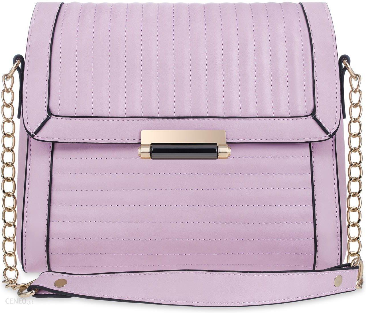 8318df32361d4 Pikowany kuferek wizytowa torebka damska na łańcuszku chanelka z klapą na  ramię - fioletowy - zdjęcie