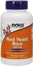 NOW FOODS Organic Red Yeast Rice Drożdże Czerwonego Ryżu 600mg 120 kaps