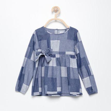 1844df5e905366 Reserved - Bawełniana koszula w gwiazdki - Granatowy - Ceny i opinie ...