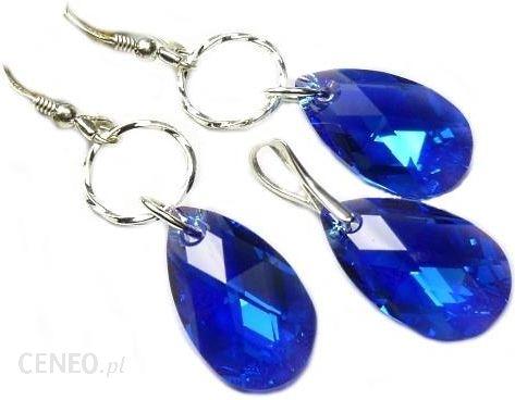 01892d6fec68cd Rosaly-Art Komplet Wieczorowy Swarovski Migdał Capri Blue Ab 1280 - zdjęcie  1