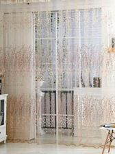 Calico Print Rod Pocket Sheer Curtain 1pc