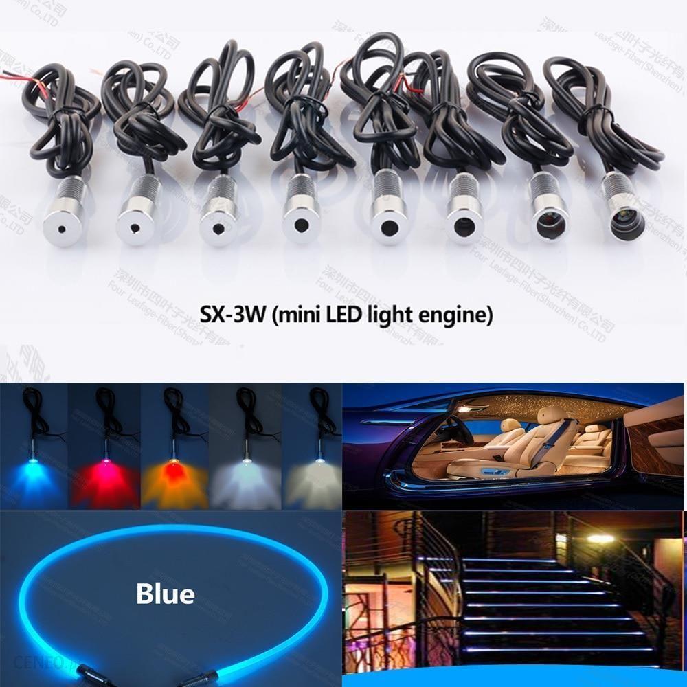 Aliexpress Mini 3 W 12 V Car Led światłowodowe źródło światła Projektora Kroki Silnika Dla Oświetlenia Wnętrza Samochodu Dekoracji Ceneopl