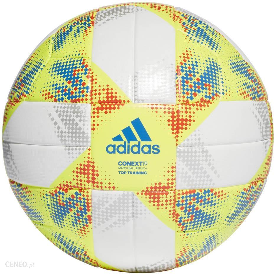 Piłka Nożna adidas Conext 19 żółto biała rozmiar 5