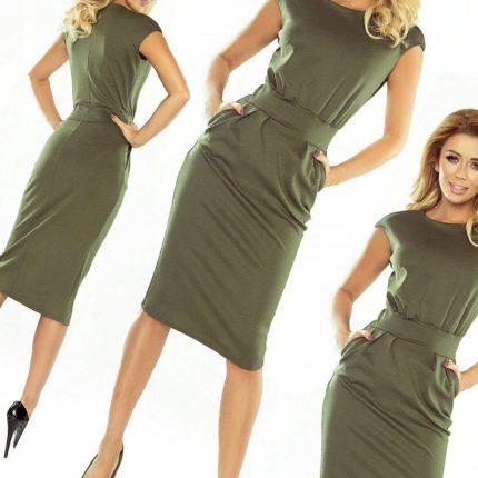 f8020c63d4 Elegancka sukienka mdi okazje NUMOCO 144 KHAKI XL Allegro