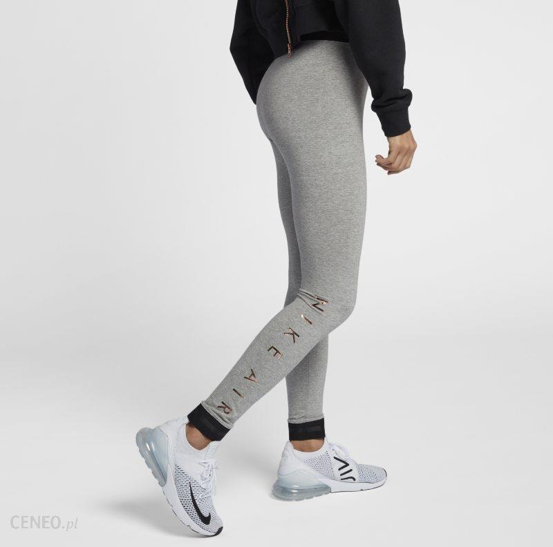 Damskie legginsy Nike Air Szary Ceny i opinie Ceneo.pl