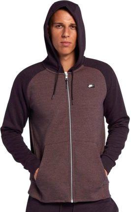 dbbbbbab70 Bluza męska Sportswear NSW Optic Hoody Full Zip Nike (bordowa)