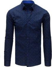 Dstreet Koszula męska elegancka ciemnogranatowa (dx1662  7bKmF