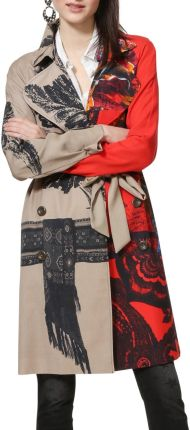 19a3d4fda90ed Desigual kolorowy płaszcz Abrig Marzo - 42