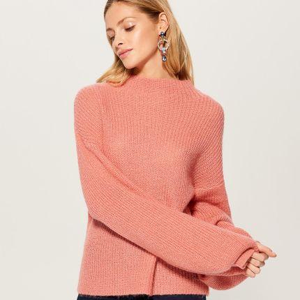 5a9879988ce3 Reserved - Sweter z frędzlami - Granatowy - Ceny i opinie - Ceneo.pl
