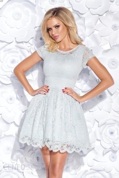 83676257b6 Bicotone Sukienka pokryta koronką MILENA - szara