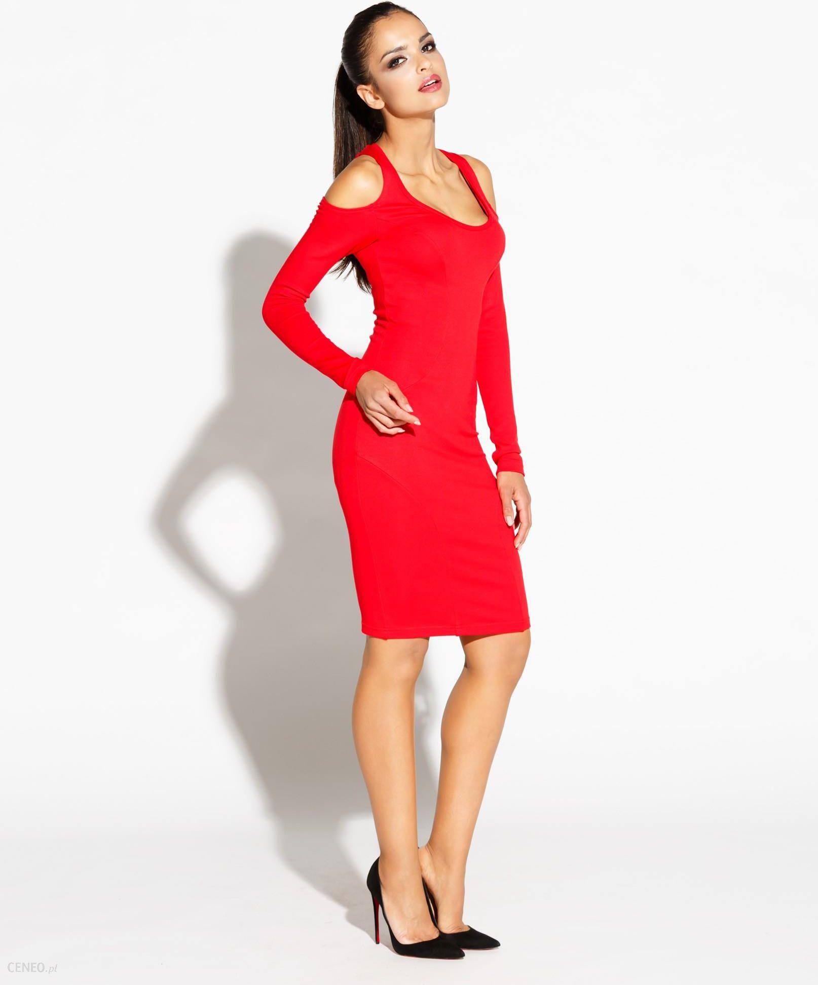 6d2e79e7 Dursi Dopasowana sukienka z długim rękawem - Epien czerwona, Rozmiar: M
