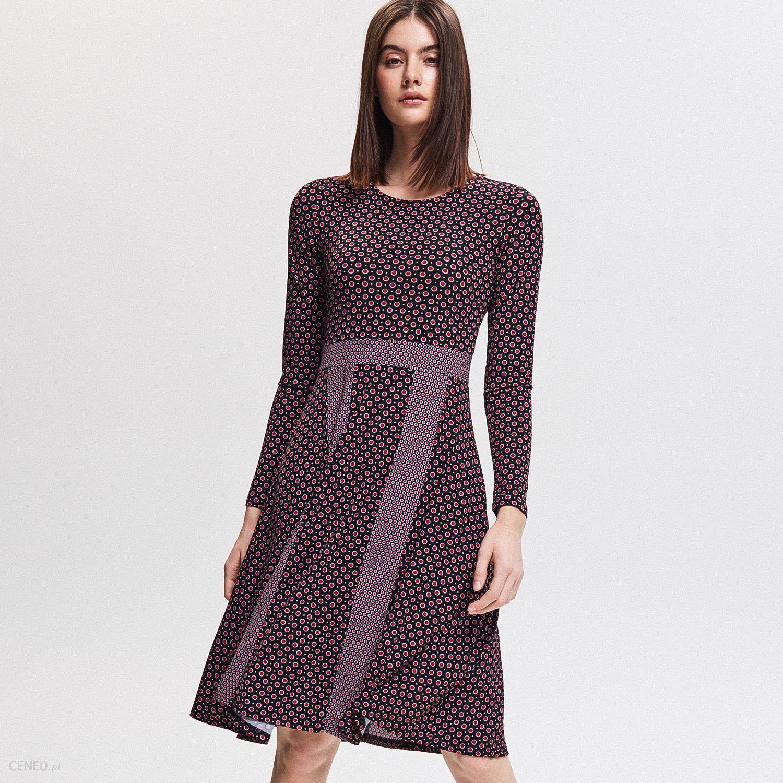 f5ff951495 Reserved - Sukienka we wzory - Wielobarwn - Ceny i opinie - Ceneo.pl