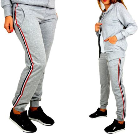 867e905d2bdd38 Spodnie rekreacyjne z dżerseju, szare nakrapiane - Ceny i opinie ...