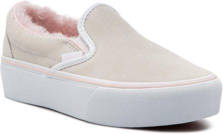 937b8626700 Tenisówki VANS - Classic Slip-On P VN0A3JEZUM71 (Suede Fur) True White  eobuwie