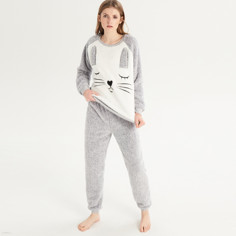 6f28fa37492d51 Sinsay - Dwuczęściowa piżama z królikiem - Jasny szar - Ceny i ...