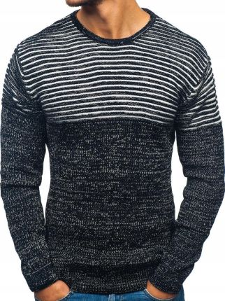 6265f801e281 OXCID Sweter męski biało-czarny Denley 156 - Ceny i opinie - Ceneo.pl