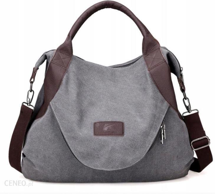 2afc3bed87de6d Duża torba miejska na ramie materiałowa (T010) - Ceny i opinie ...