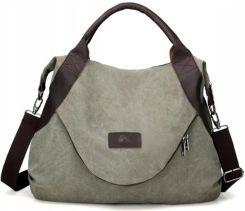 25b5940298822 Duża torba miejska na ramie materiałowa (T010) Allegro