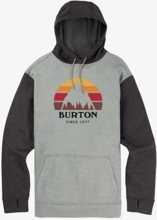 8a6db985 Bluza Męska Burton Oak Pullover (Monument Heather / True Black Heather) 2019