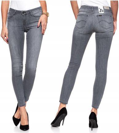 Lee Scarlett Cropped Spodnie Jeansy Khaki W28 L31 Ceny i