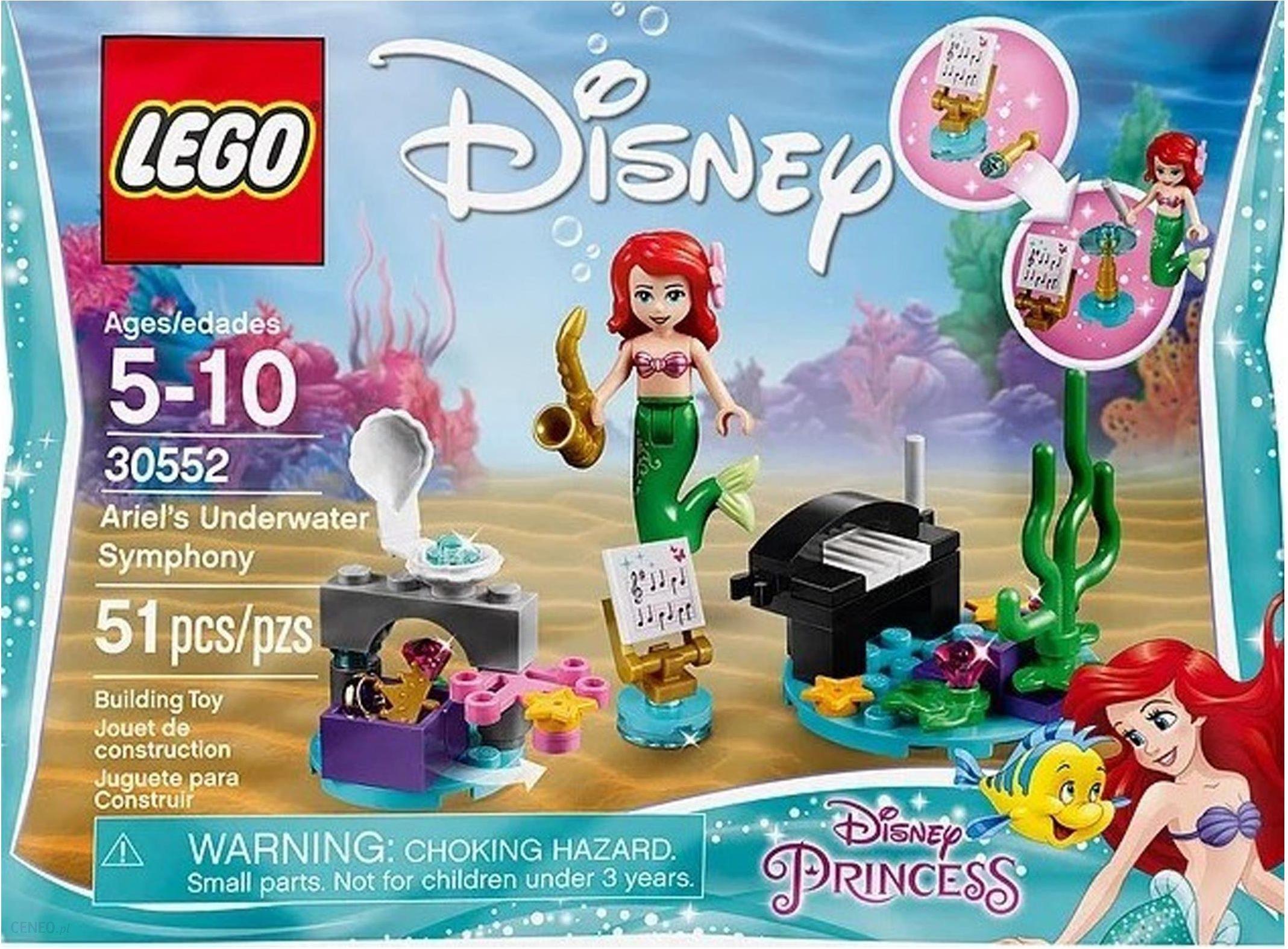 Lego Disney Princess Podwodna Symfonia Arielki 30552 ceny i opinie Ceneo.pl