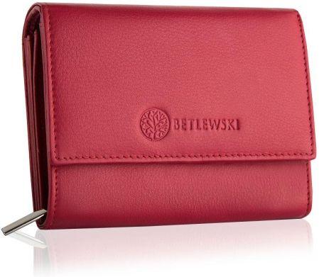 a2ce5600cfc99 Podobne produkty do Czerwony skórzany portfel damski BETLEWSKI Odcienie  czerwonego