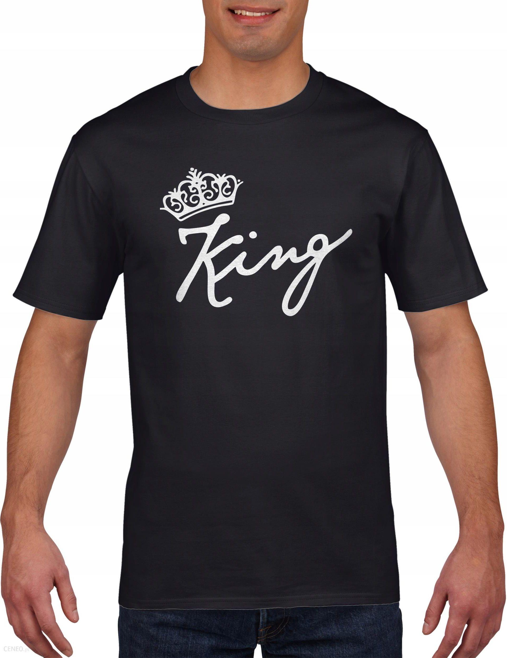 Koszulka męska DLA PAR KING QUEEN WALENTYNKI S