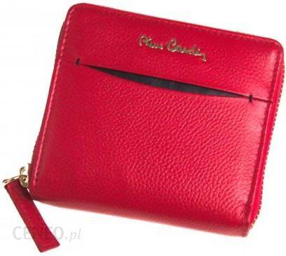 0be1d5a25c373 Mały portfel damski skórzany Pierre Cardin cały na zamek czerwony TILAK 18  MK01 - zdjęcie 1