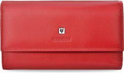 2c17b390bc371 Pojemny portfel damski valentini duża portmonetka kopertówka miękka skóra  naturalna - czerwony