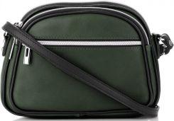 b591944635fc0 Uniwersalne Torebki Skórzane Listonoszki marki Genuine Leather Dwie Komory  Butelkowa Zieleń (kolory) ...