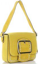 c3e12c3453bde Vittoria Gotti Eleganckie Torebki Skórzane Listonoszki w stylu Glamour  Żółte (kolory) ...