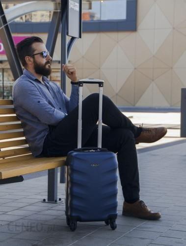 aa40e151b55a3 Srednia walizka podróżna na kółkach rozmiar M Solier STL 402 ABS ciemny  zielony - zdjęcie 1
