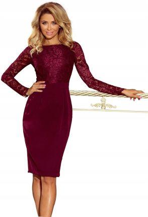 70414a76cb Ekskluzywna rozkloszowana sukienka BORDOWA HAFT XS - Ceny i opinie ...