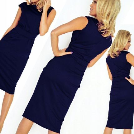 e6d102c2aa Elegancka sukienka AMELIA dla puszystej na sylwestra Kolor  Niebieski  Rozmiar  42 199