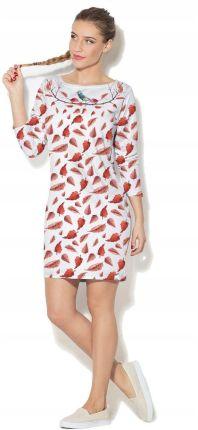 a095b548925c9a 145-4 Sukienka z KORONKI - BRZOSKWINIA - Ceny i opinie - Ceneo.pl