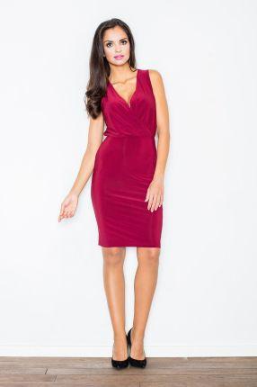 7b0e10fe25 Dursi Dopasowana sukienka - wycięte plecy - Roxet - czerwona ...