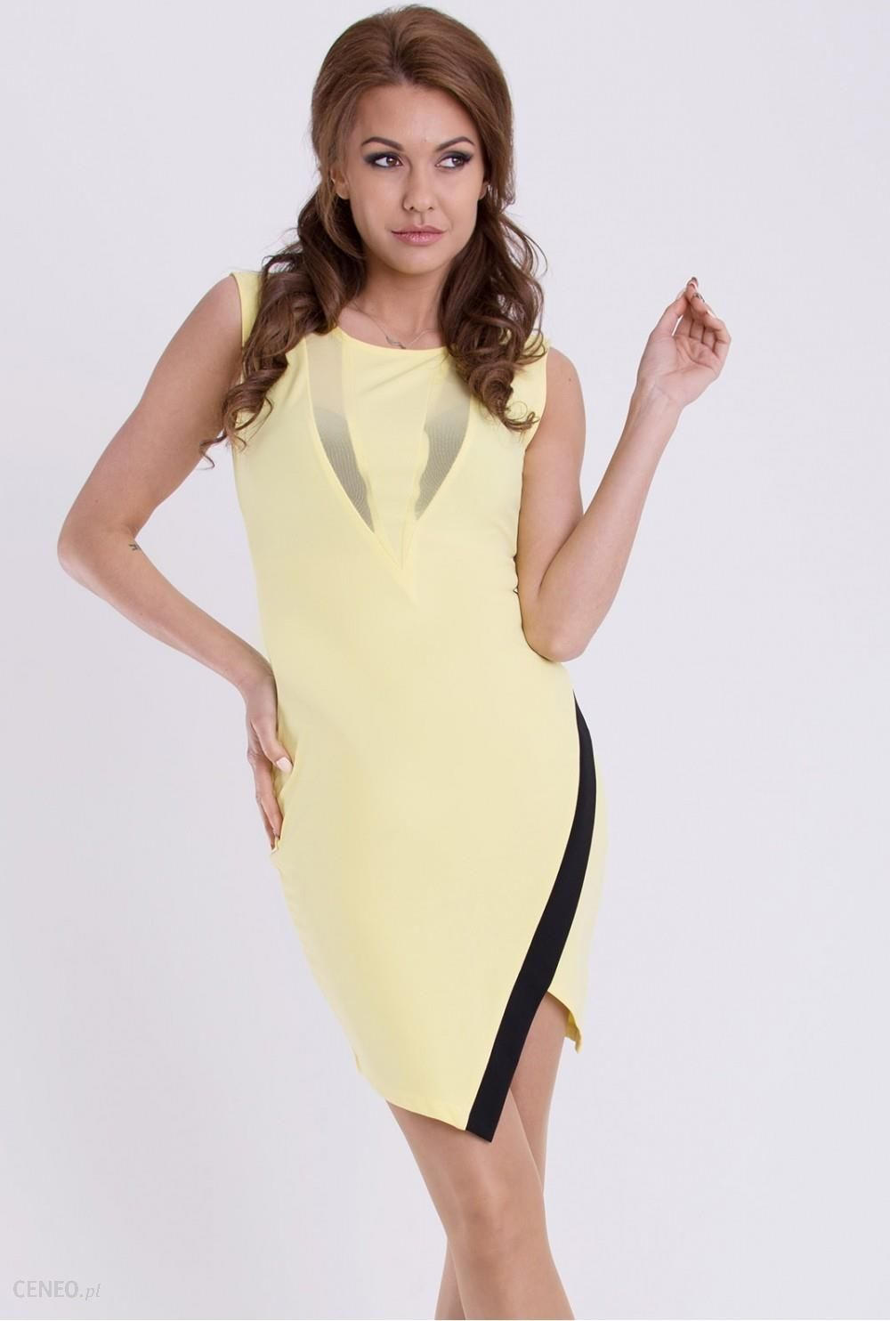 YourNewStyle Sukienka Model 17076 Cytryna Ceny i opinie Ceneo.pl