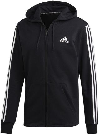 df1eaf40ad795 Bluza męska 3 Stripes Full Zip Adidas (czarna)