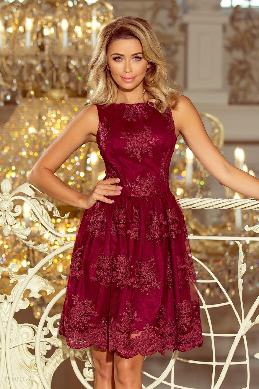 2ec65f0490 NUMOCO Sukienka Model 173-2 Bordo - Ceny i opinie - Ceneo.pl