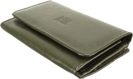 28d8057960e8f PERFEKT PLUS P/45 A bigiel/zatrzask ciemnozielony, portfel damski - Zielony