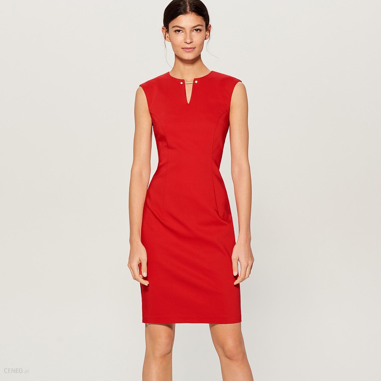 322b7ed0a0 Mohito - Sukienka midi z biżuteryjną ozdobą - Czerwony - Ceny i ...