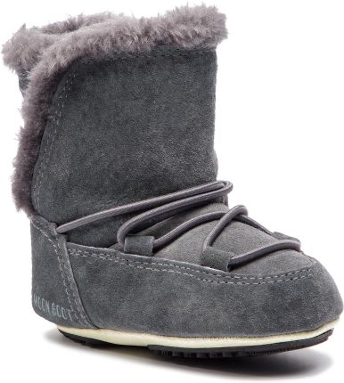 Śniegowce MOON BOOT - Crib Suede 34010300002 Dark Gray