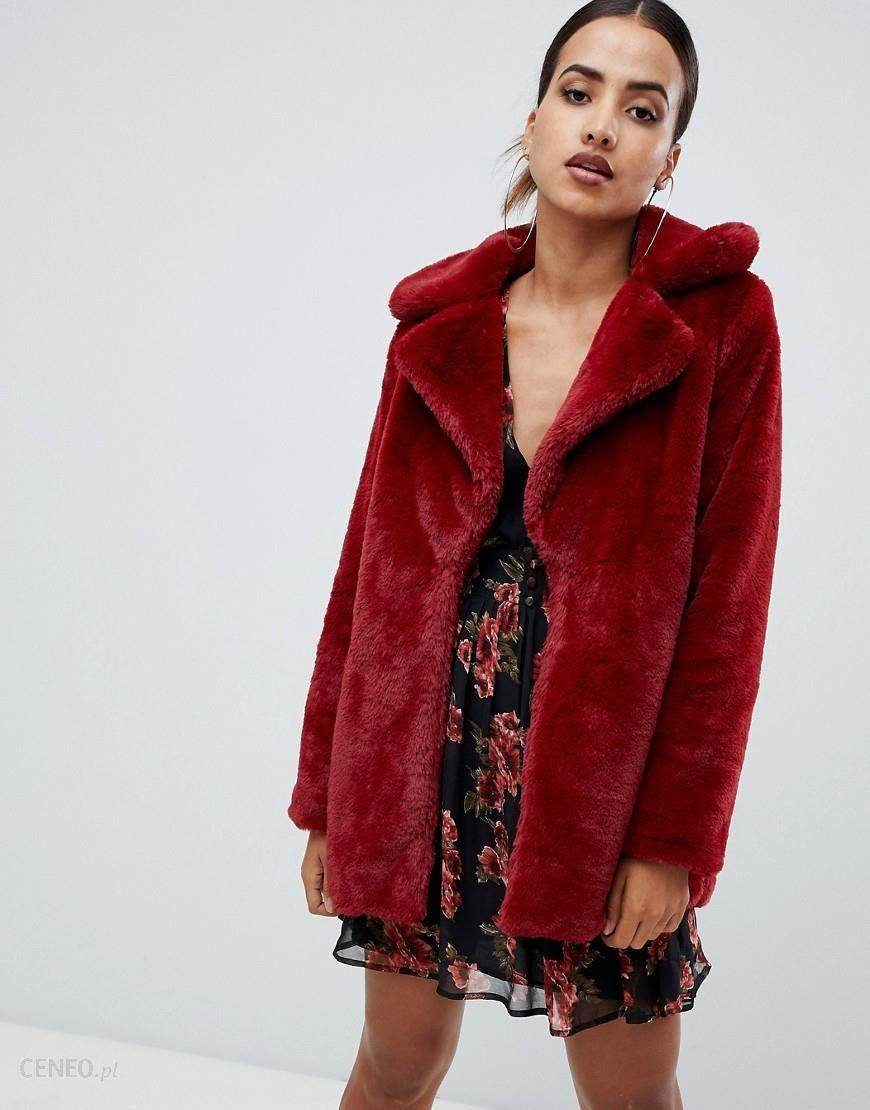 red faux fur