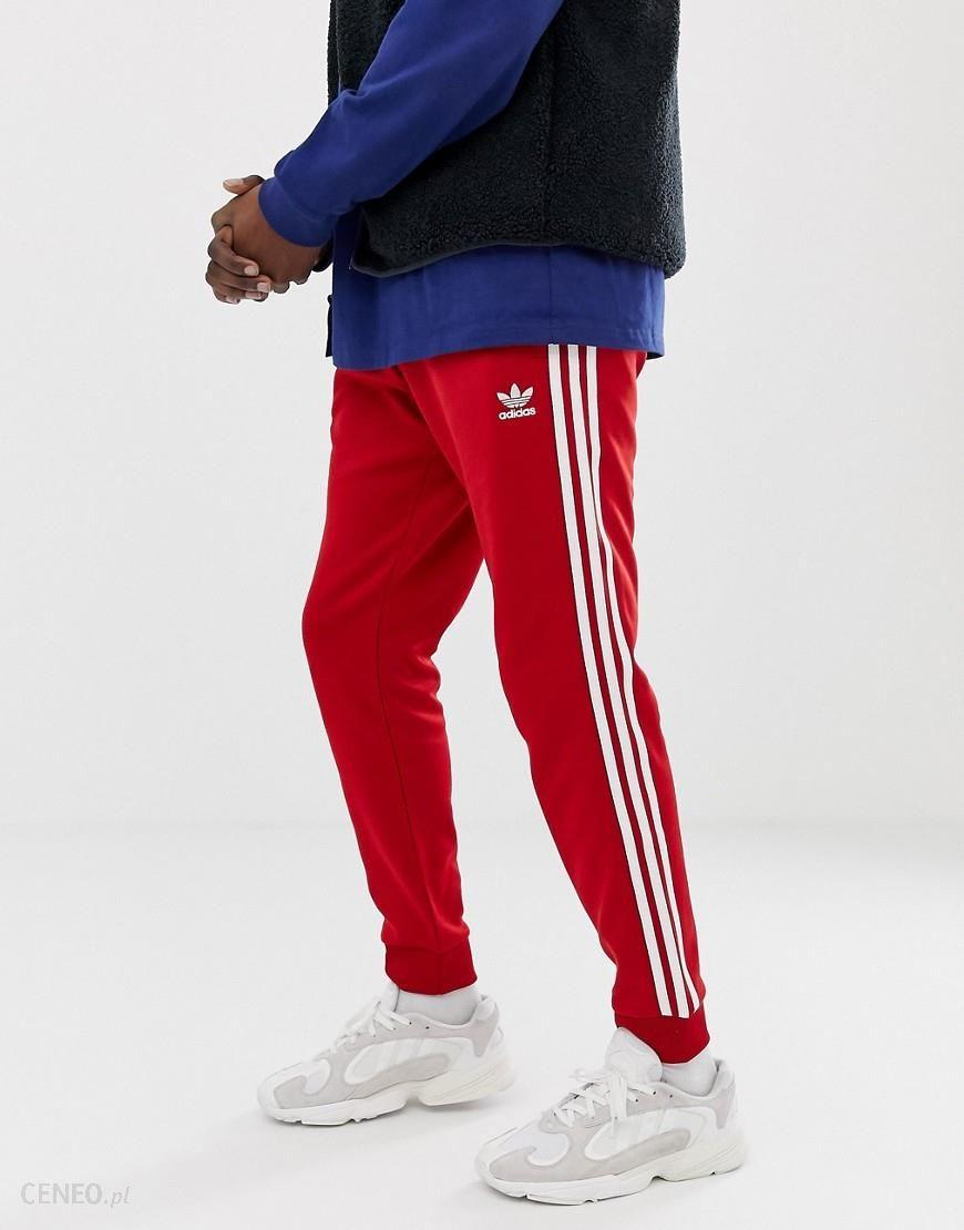 best website 09621 8498a adidas Originals 3-stripe skinny joggers with cuffed hem DV1534 red - Red -  zdjęcie