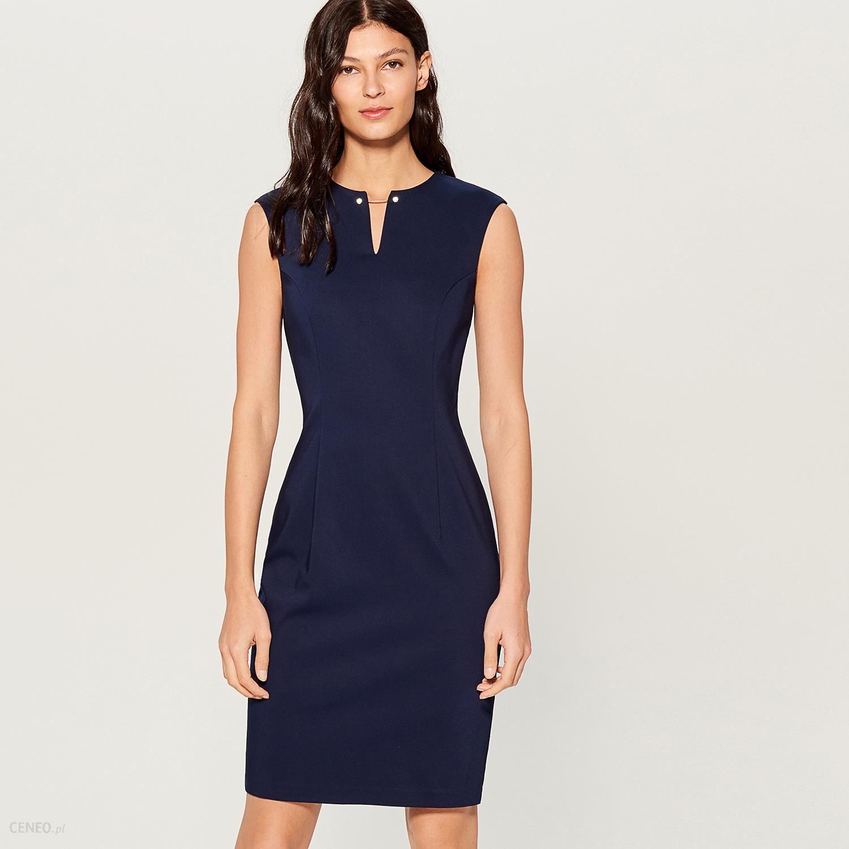 aa36769a6f Mohito - Sukienka midi z biżuteryjną ozdobą - Niebieski - Ceny i ...