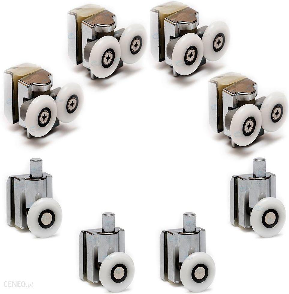 Akcesoria Prysznicowe Sanlight Zestaw Rolek Do Kabiny Prysznicowej Durasan Ze03 Opinie I Ceny Na Ceneo Pl