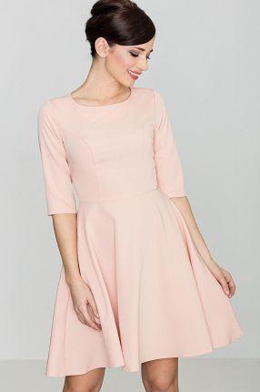 16e0d40828 Katrus Elegancka Różowa Gorsetowa Sukienka z Dłuższym Tyłem - Ceny i ...