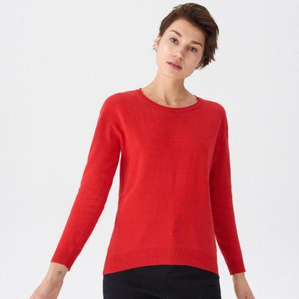 c3e458c1 Mohito - Dopasowany sweter z kołnierzykiem - Kremowy - Ceny i opinie ...